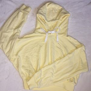 cropped yellow sweatshirt! comes ironed and washed